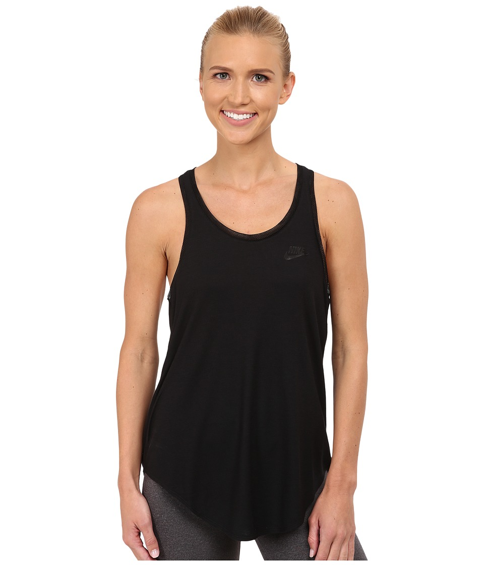 Nike - Tank Top T2 (Black/Black/Black) Women's Sleeveless