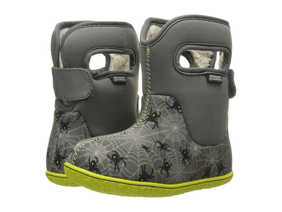 Bogs Kids - Classic Creepy Crawler (Toddler) (Grey Multi) Boys Shoes