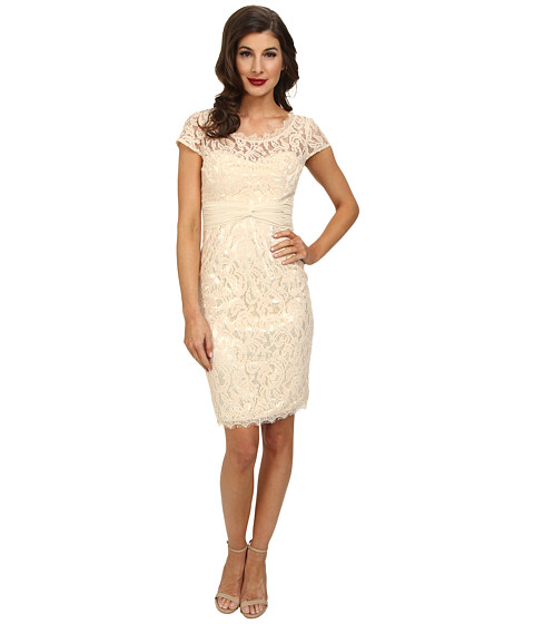 Unique Vintage - Monaco Lace Dress (Blush) Women's Dress