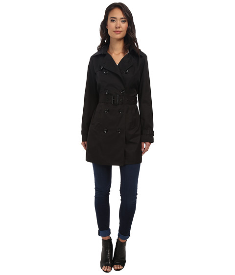 MICHAEL Michael Kors - Trench Coat (Black 1) Women's Coat