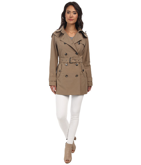 MICHAEL Michael Kors - Double Breasted Coat (Khaki) Women's Coat