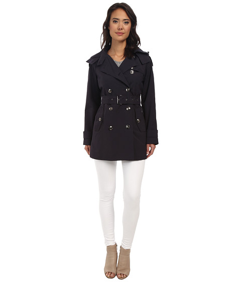 MICHAEL Michael Kors - Double Breasted Coat (Navy) Women's Coat