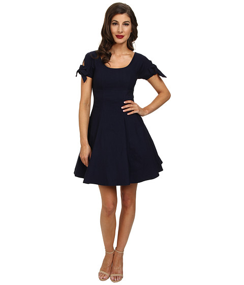 Unique Vintage - Short Doris Dress (Navy) Women's Dress