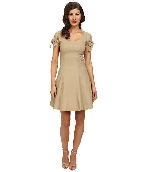 Unique Vintage - Short Doris Dress (Tan) Women