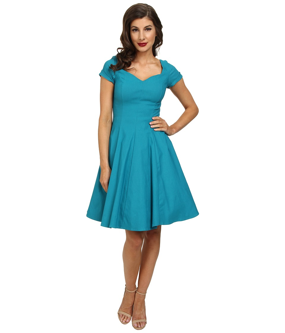 Unique Vintage - Vera Dress (Teal) Women's Dress