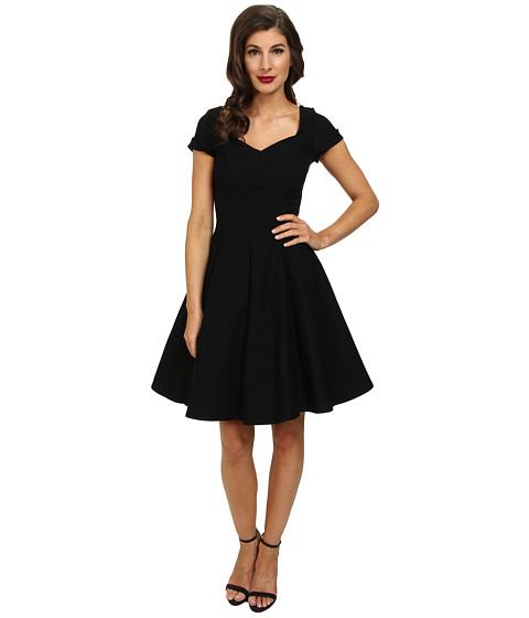 Unique Vintage - Vera Dress (Black) Women's Dress