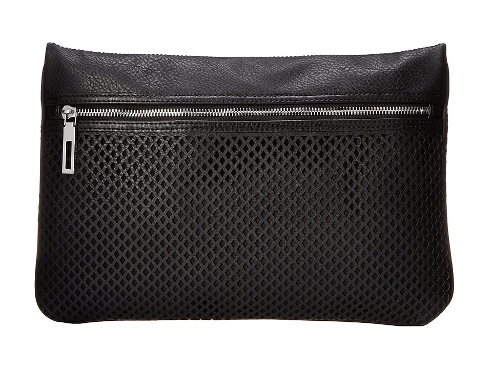 BCBGeneration - The Lunch Meeting Clutch (Black) Clutch Handbags