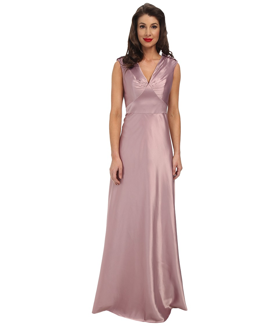 Unique Vintage - 1940's Satin Harlow Dress (Lavender) Women's Dress