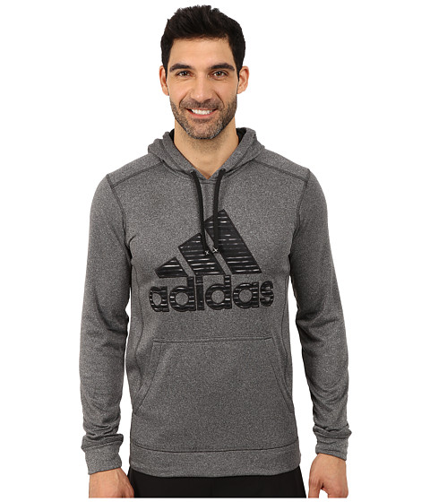adidas - Ultimate Fleece Pullover Hoodie-Illuminated Screen (DGH Solid Grey/Black) Men's Sweatshirt