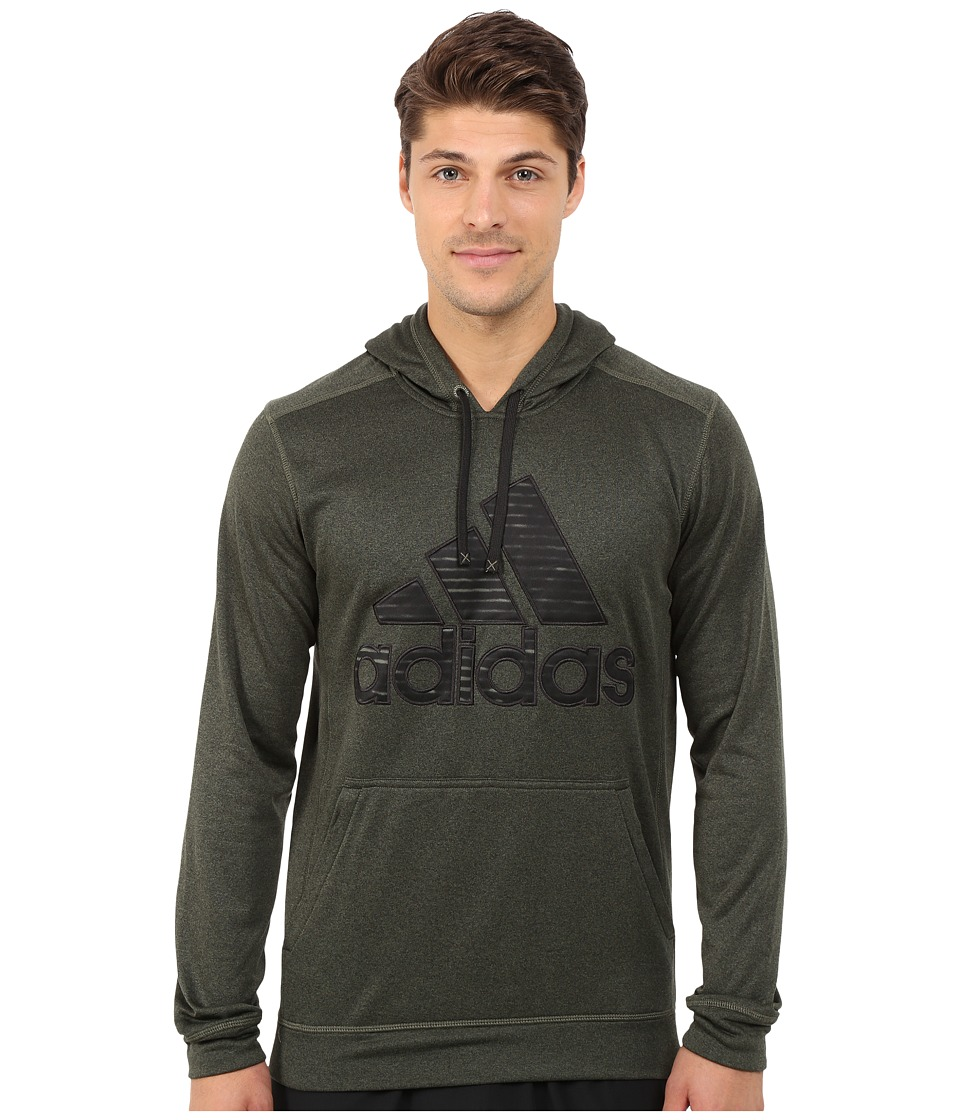 adidas - Ultimate Fleece Pullover Hoodie-Illuminated Screen (Base Green/Black) Men's Sweatshirt