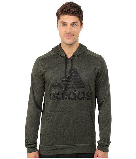 adidas - Ultimate Fleece Pullover Hoodie-Illuminated Screen (Base Green/Black) Men
