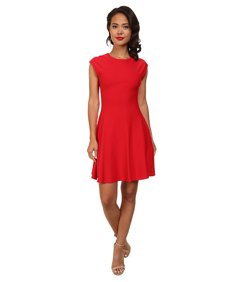 Unique Vintage - Knit Birdie Dress (Red) Women's Dress