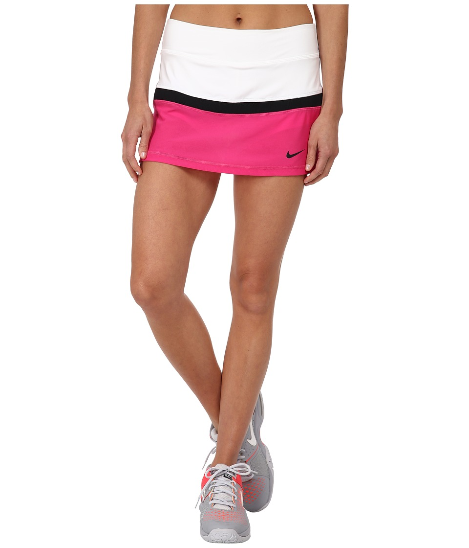 Nike - Court Skort (White/Vivid Pink/Black/Black) Women's Skort