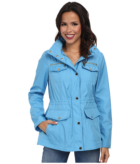 MICHAEL Michael Kors - Soft Shell Coat (Heritage Blue) Women's Coat
