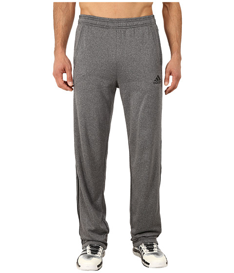 adidas - Ultimate Fleece 3S Pants (Dark Grey Heather/Black) Men's Workout