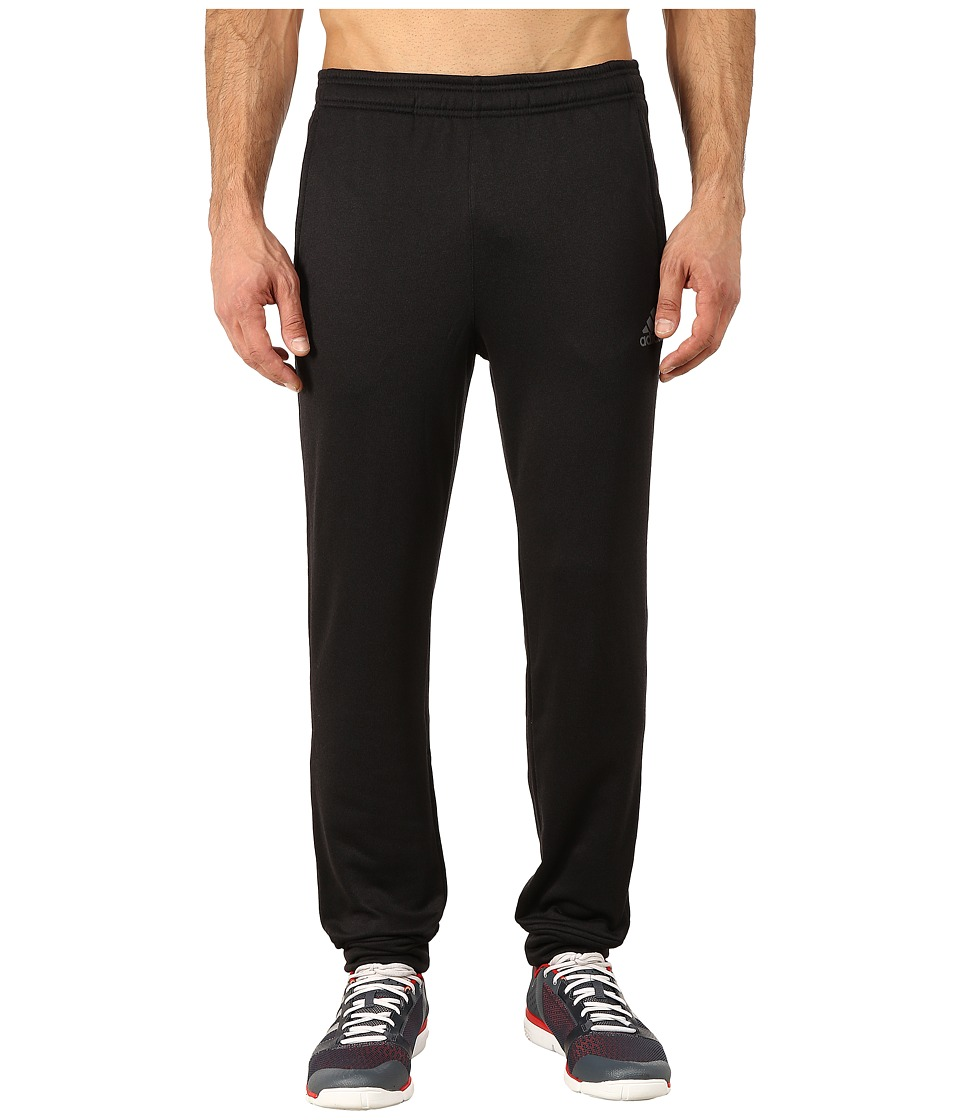 adidas - Ultimate Fleece Tapered Pants (Black/Vista Grey) Men's Workout