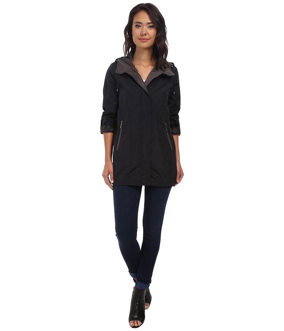 MICHAEL Michael Kors - Two-Tone Coat (Navy/Titan) Women's Coat