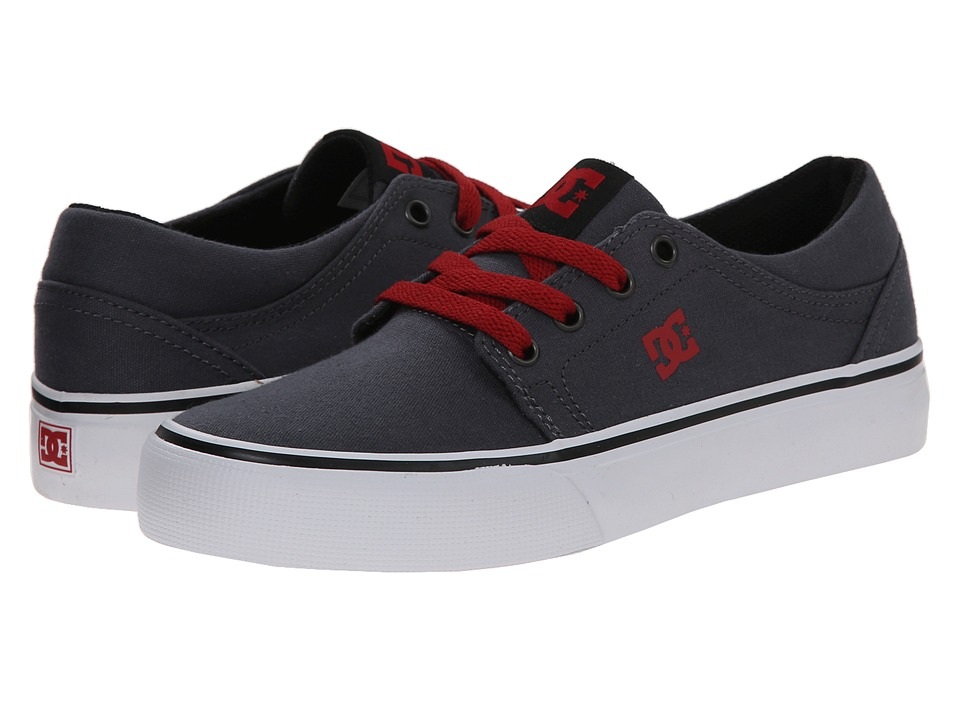 DC Kids - Trase TX (Little Kid) (Grey/Black/Red) Boys Shoes