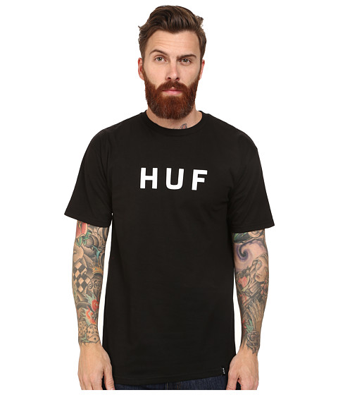 HUF - Original Logo Tee (Black) Men's T Shirt