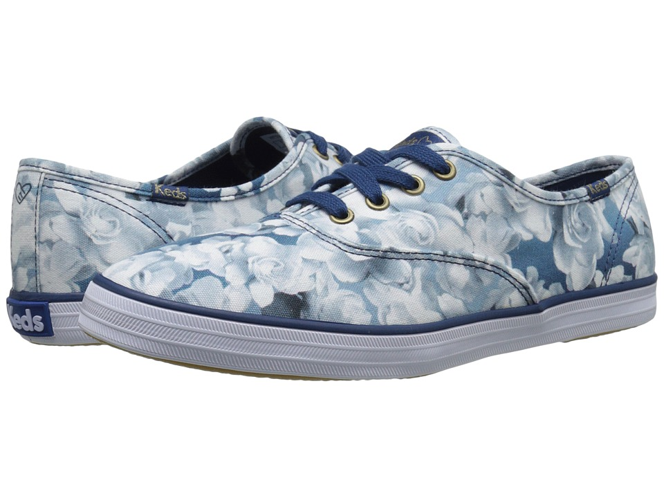 Keds - Taylor Swift's Champion Floral Print (Deep Blue) Women's Lace up casual Shoes