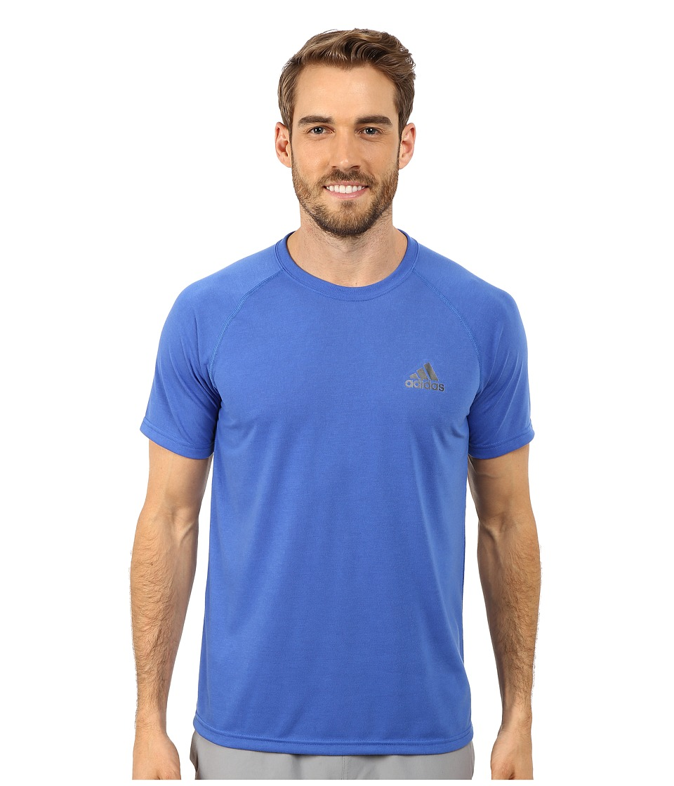 adidas - Ultimate S/S Crew Tee (Blue/DGH Solid Grey) Men's T Shirt