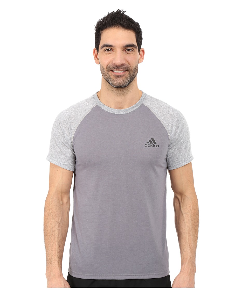 adidas - Ultimate S/S Crew Tee (Vista Grey/Medium Grey Heather/Black) Men