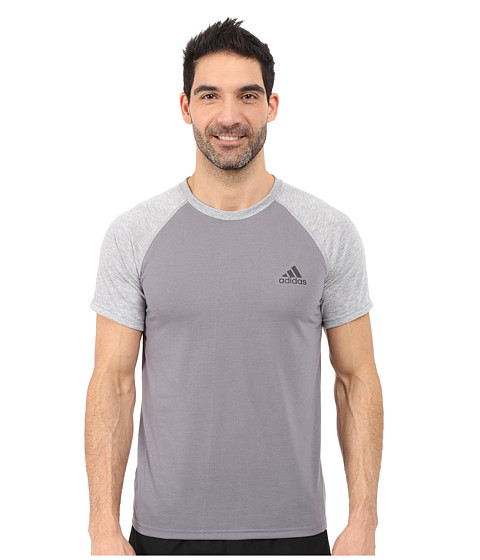 adidas - Ultimate S/S Crew Tee (Vista Grey/Medium Grey Heather/Black) Men
