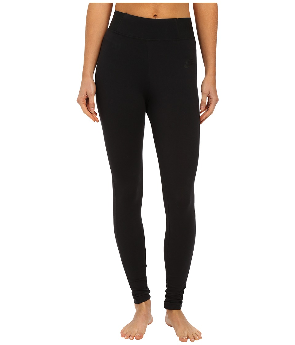 Nike - Leggings Heather T2 (Black/Black/Black) Women's Casual Pants