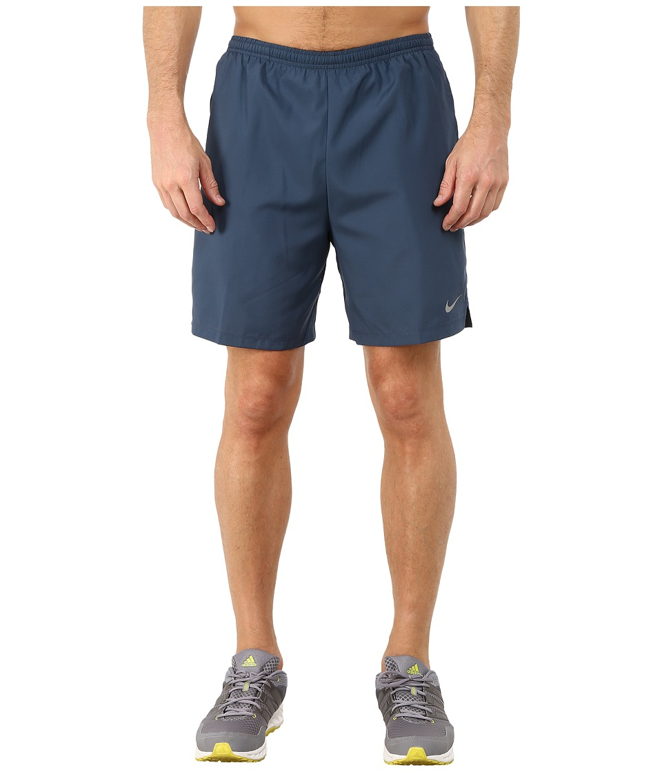 Nike - 7 Challenger Short (Squadron Blue/Black/Reflective Silver) Men's Shorts