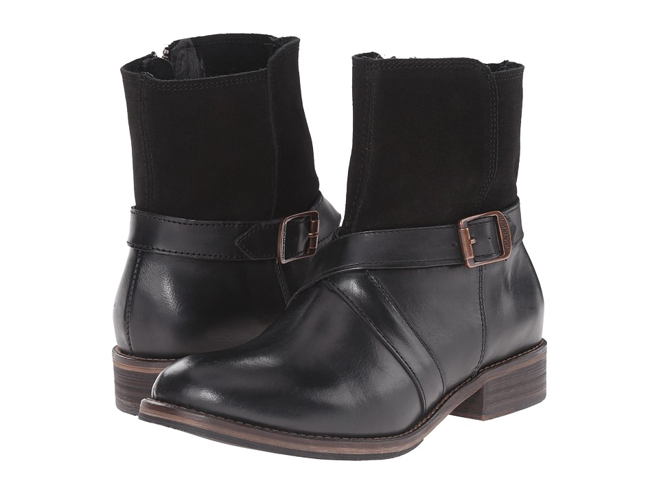Wolverine - Pearl Ankle Boot (Black Leather) Women's Boots