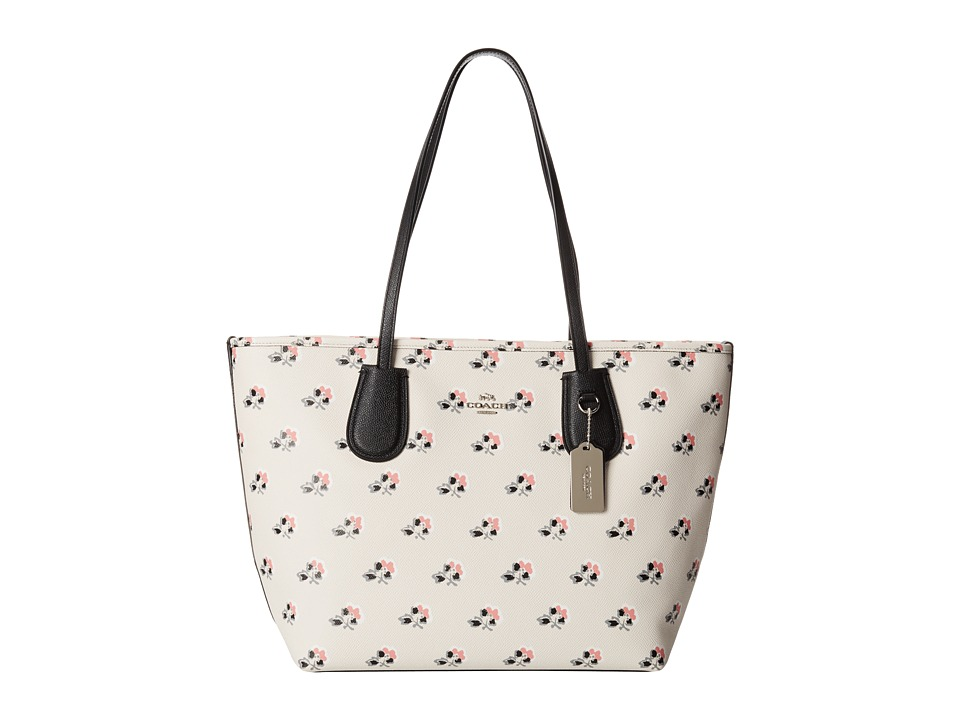 COACH - Print Crossgrain New Coach Taxi (Bramble Rose) Handbags