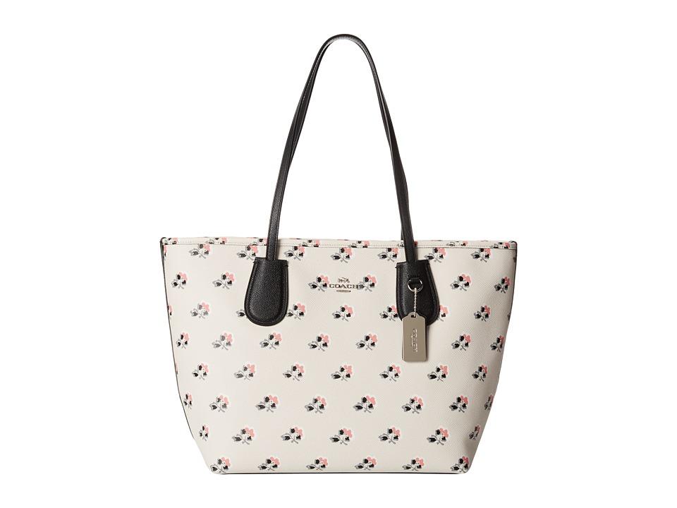 COACH - Print Crossgrain New Coach Taxi (Bramble Rose) Handbags