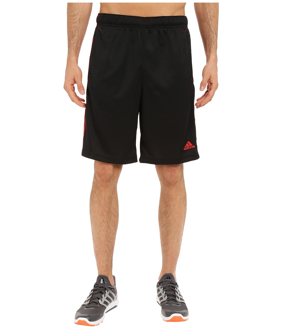 adidas - Essential 3S Shorts (Black/Scarlett) Men's Shorts