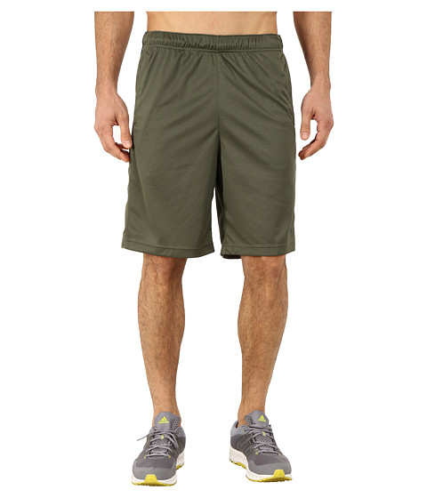 adidas - Essential 3S Shorts (Base Green/Dark Grey) Men's Shorts