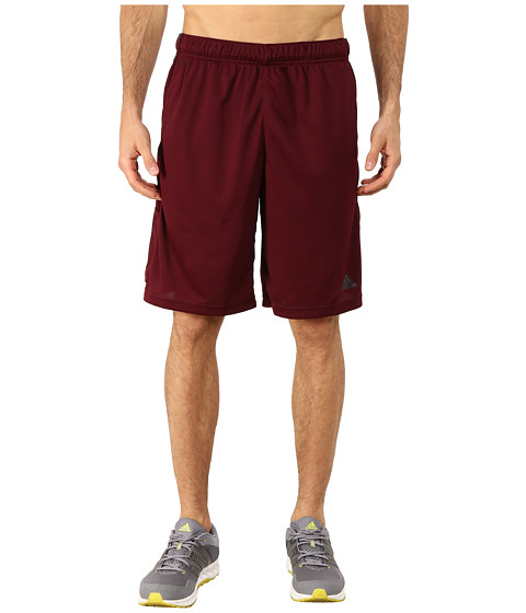 adidas - Essential 3S Shorts (Maroon/Dark Grey) Men