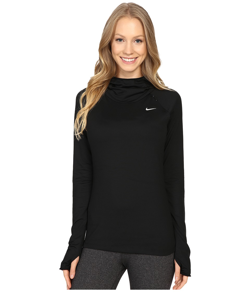 Nike - Dry Element Running Hoodie (Black/Reflective Silver) Women's Sweatshirt