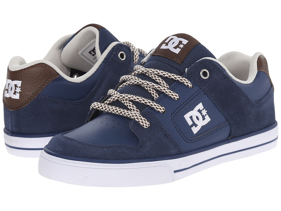 DC Kids - Pure SE (Big Kid) (Navy/Dark Chocolate) Boys Shoes