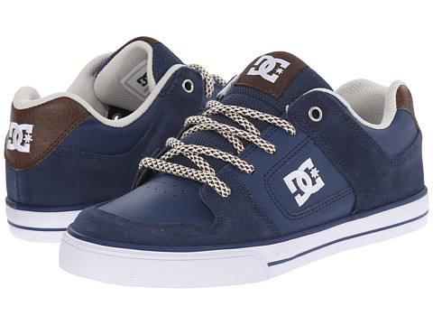 DC Kids - Pure SE (Big Kid) (Navy/Dark Chocolate) Boys Shoes