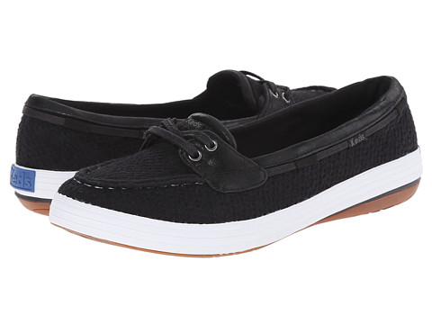 Keds - Glimmer Boat (Black Textile) Women's Lace up casual Shoes