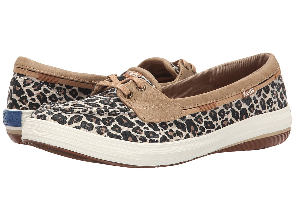 Keds - Glimmer Boat (Tan Animal Textile) Women