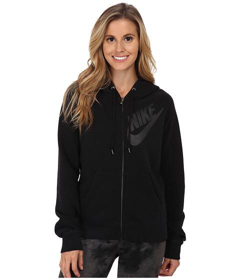 Nike - Rally Full-Zip Matte Hoodie (Black/Black/Black) Women's Sweatshirt