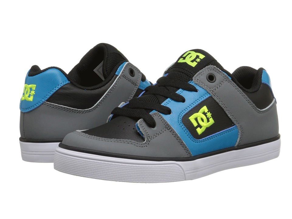 DC Kids - Pure (Big Kid) (Black/Armor/Turquoise) Boys Shoes