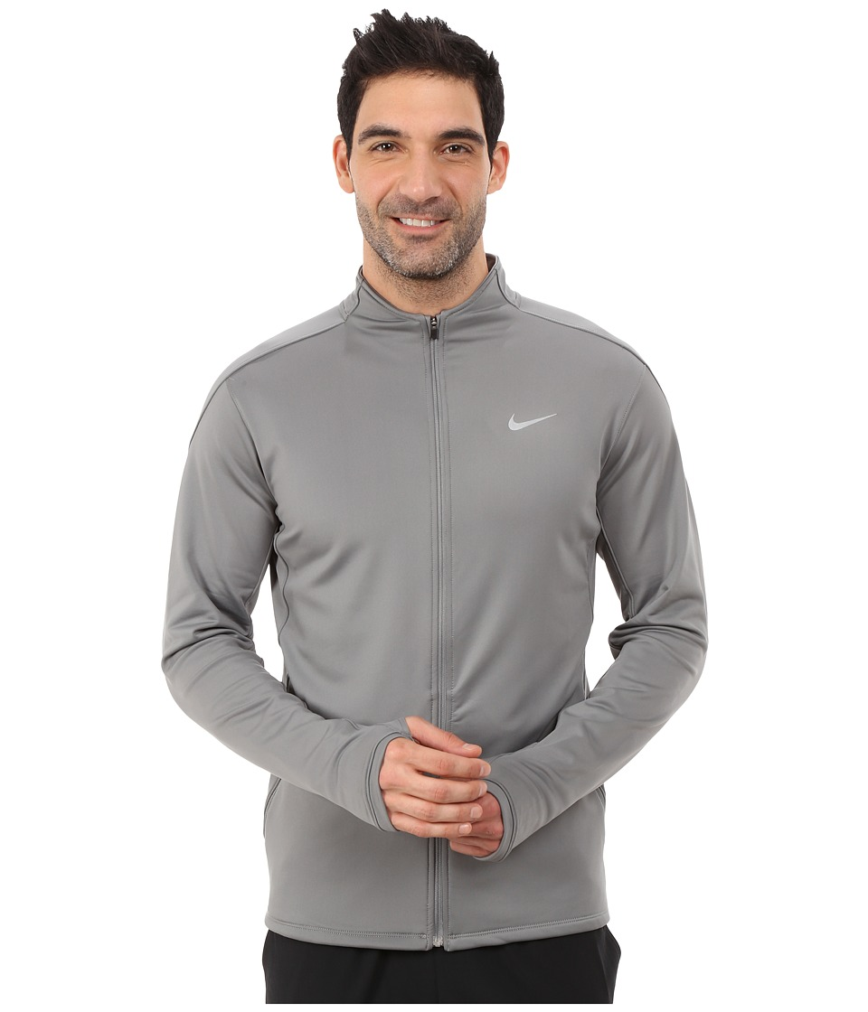 Nike - Dri-Fit Thermal Full-Zip Running Jacket (Tumbled Grey/Reflective Silver) Men's Jacket