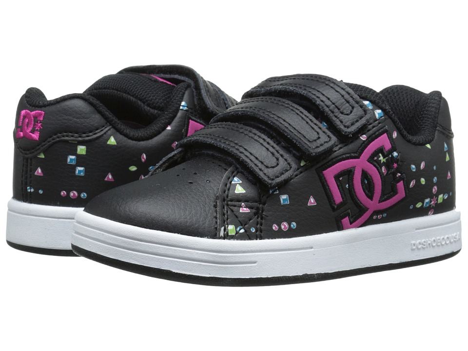 DC Kids - Character V (Little Kid) (Black/Multi/White) Girls Shoes