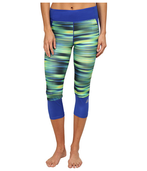adidas - Supernova 3/4 Tights - Illuminated Energy (Bold Blue/Bright Yellow) Women's Workout