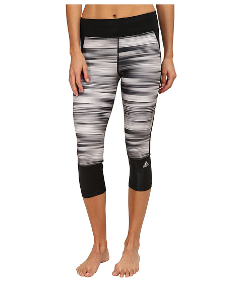 adidas - Supernova 3/4 Tights - Illuminated Energy (Black/Matte Silver) Women's Workout