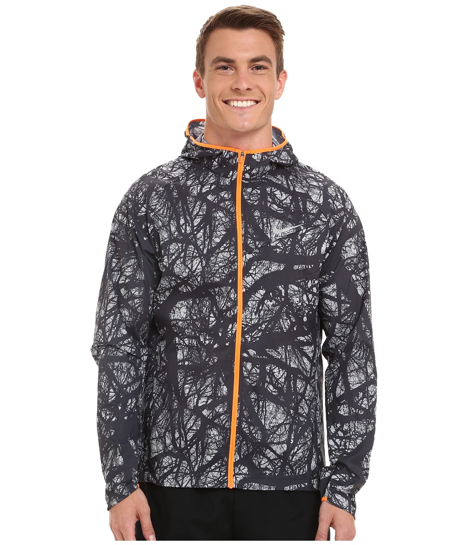 Nike - Enchanted Impossibly Light Jacket (Black/Total Orange/Reflective Silver) Men's Coat