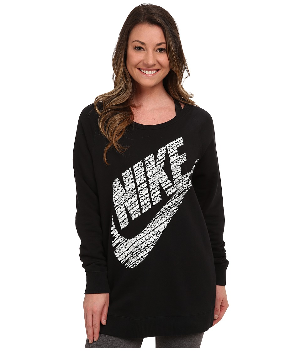 Nike - Rally BF Logo Crew (Black/Summit White) Women