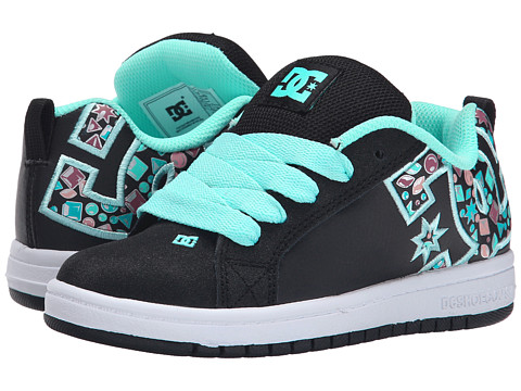 DC Kids - Court Graffik SE (Little Kid) (Black Graphic) Girls Shoes