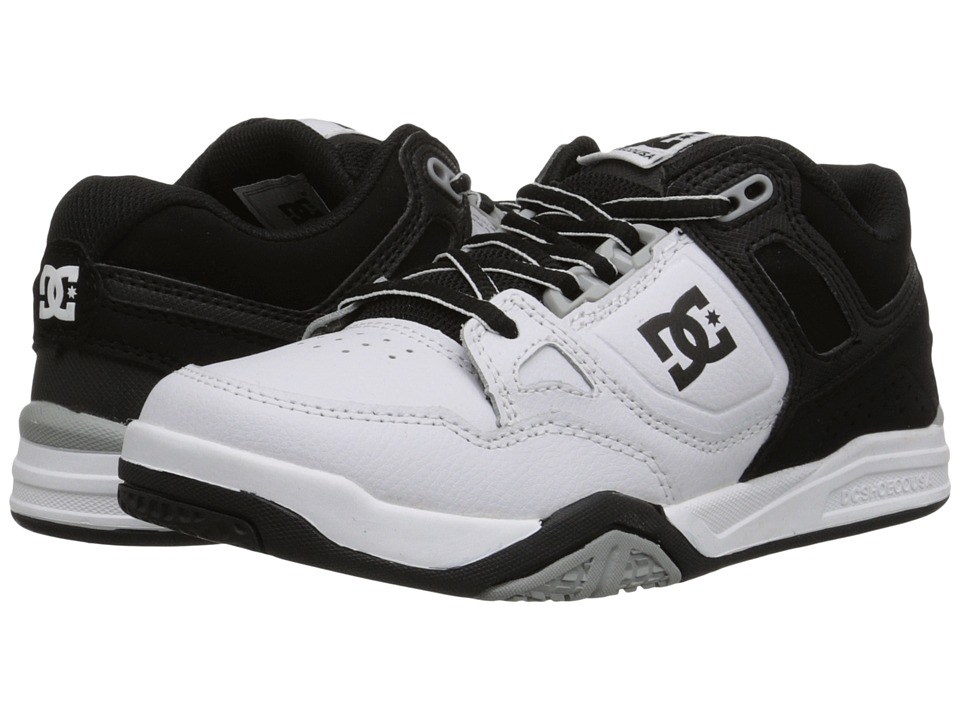 DC Kids - Stag 2 (Big Kid) (White/Black/Armor) Boys Shoes